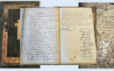 2021. február – A csegöldi Istenszülő születése templom bővítési munkálataival kapcsolatos jegyzőkönyv részlete 1931-ből